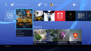 PlayStation 4 system software - Image: Play Station 4 System Software Screenshot