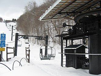 Poma - A 1960s Poma double chairlift in Vermont, USA