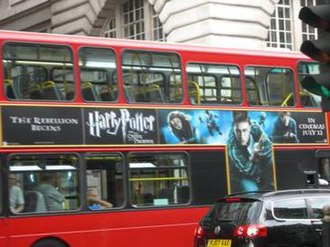 Harry Potter and the Order of the Phoenix (film) - An advertisement for the film on a London double-decker bus.