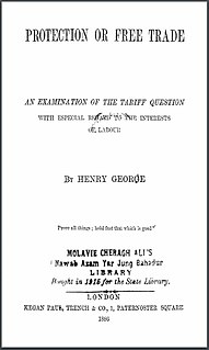 <i>Protection or Free Trade</i> book by Henry George