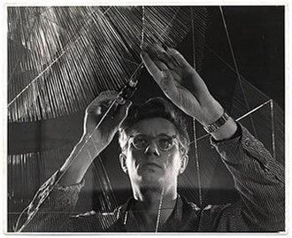 Richard Lippold - Lippold working on a sculpture, circa 1950