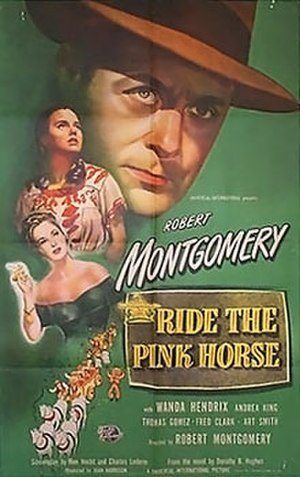 Ride the Pink Horse - Theatrical release poster