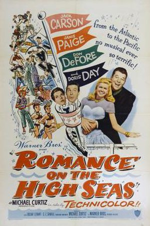 Romance on the High Seas - theatrical release poster