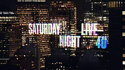 The title card for Saturday Night Live – season 40, showing New York skyscrapers.