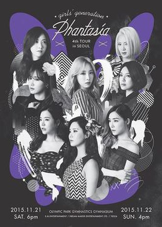 Girls' Generation's Phantasia - Promotional poster of the tour in Seoul