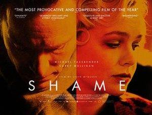 Shame (2011 film) - British release poster