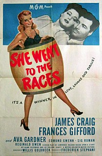 <i>She Went to the Races</i> 1945 film by Willis Goldbeck