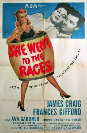 She Went to the Races - Theatrical Film Poster