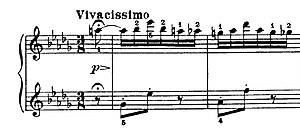 Arabesque (classical music) -  The opening bars of Jean Sibelius's Arabesque (Op.76, No.9).