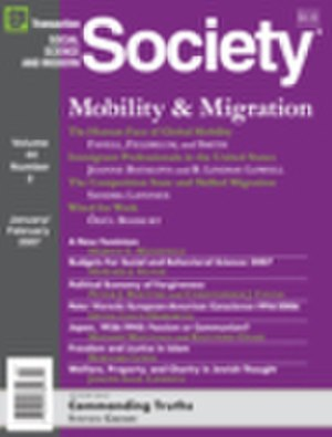 Society (journal) - Image: Society Journal