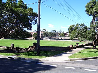 St Patrick's College, Strathfield - St Patrick's College from Kessel Square