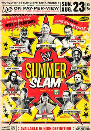 SummerSlam (2009) - Promotional poster featuring various WWE wrestlers