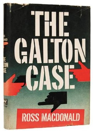Lew Archer - First print cover of The Galton Case