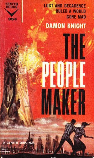 A for Anything - Cover of The People Maker (1959), which was revised and republished as A for Anything (1961)