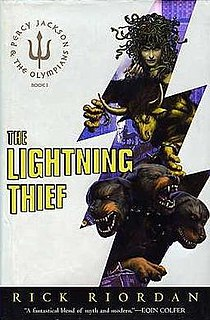 <i>The Lightning Thief</i> American childrens novel, 2005, first in the Percy Jackson series