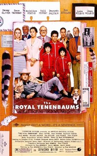 <i>The Royal Tenenbaums</i> 2001 film by Wes Anderson