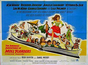The Amorous Adventures of Moll Flanders - British cinema poster for The Amorous Adventures of Moll Flanders