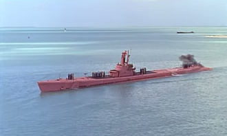 Operation Petticoat - Image: USS Balao standing in for Operation Petticoat's fictional USS Sea Tiger