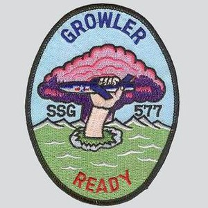 USS Growler (SSG-577) - Image: USS Growler SSG 577 Badge
