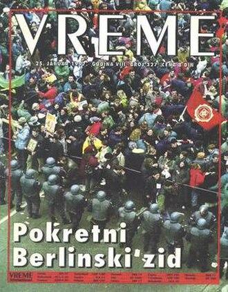 Vreme - Vreme cover, 25 January 1997