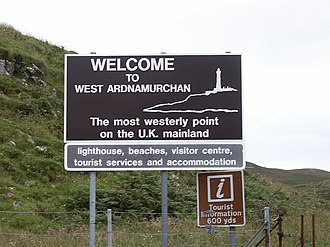 Ardnamurchan - Welcome sign at Kilchoan ferry terminal