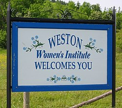 Weston Welcome Sign