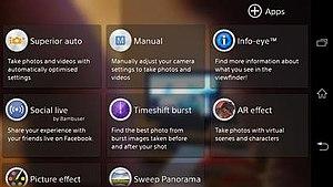 Sony Xperia Z1 - Xperia Z1 camera modes