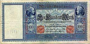 Reichsbank - Image: 1908 2 7 100large