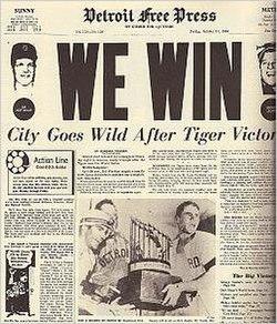 1968 Detroit Tigers Season Wikipedia