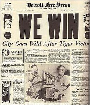 1968 Detroit Tigers season - Tigers Win the Series