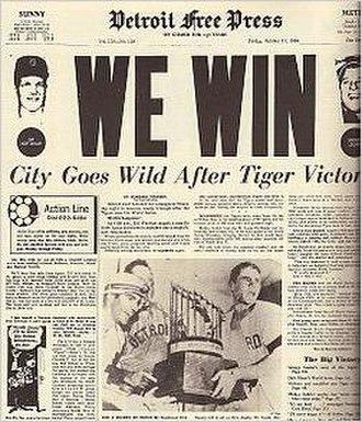 1968 Detroit Tigers season - Tigers Win the Series