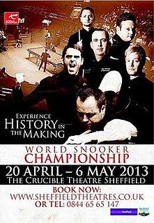 2013 World Snooker Championship Snooker tournament, held 2013