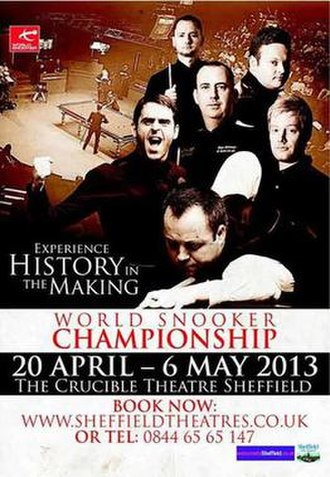 2013 World Snooker Championship - Image: 2013 World Snooker Championship poster