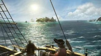 Pirates of the Caribbean: Armada of the Damned - An early gameplay screenshot of Armada of the Damned, showcasing the open world environment based on the Pirates of the Caribbean universe.