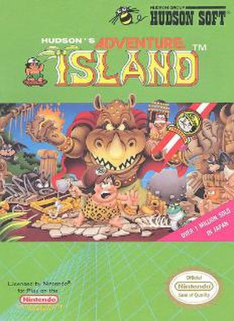 Adventure Island (video game) - Cover art of Adventure Island (North American NES version)