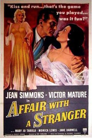 Affair with a Stranger - Theatrical release poster