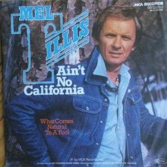 Ain't No California - Image: Ain't No California Mel Tillis