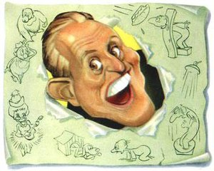 Art Linkletter - Sam Berman's caricature of Linkletter for NBC's 1947 promotional book