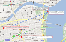 Baidu Map with WGS-84, GCJ-02 and BD-09 markers