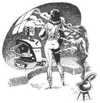 Richard Bassford - Richard Bassford illustration in Vampirella 11 (May 1971)