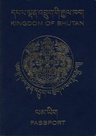 Bhutanese passport - The front cover of a Bhutanese passport
