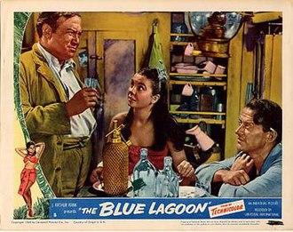 The Blue Lagoon (1949 film) - Lobby card