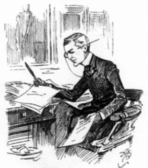 Brandon Thomas - Thomas the playwright depicted at work