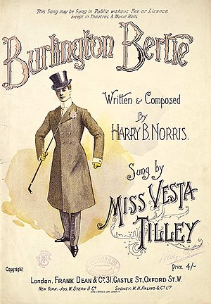 Vesta Tilley - Vesta Tilley as Burlington Bertie