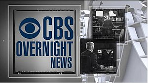 CBS Overnight News - Former title card featuring Scott Pelley
