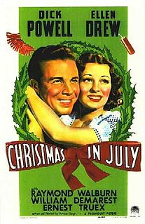 <i>Christmas in July</i> (film) 1940 film by Preston Sturges