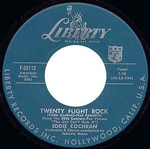 Twenty Flight Rock - Image: Cochran Twenty Flight Rock record label