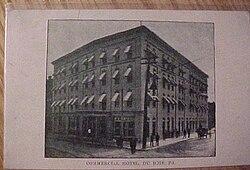 Commercial Hotel Dubois Pa 1910 Jpg
