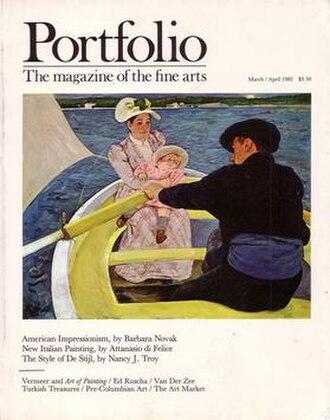 Portfolio Magazine - Image: Cover of Portfolio Magazine, March April, 1982