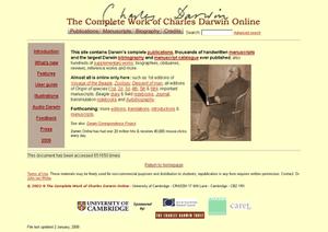 The Complete Works of Charles Darwin Online - Homepage